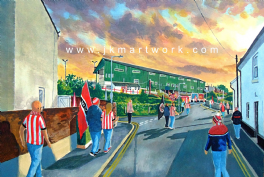 st james park  going to the match ,ecfc print